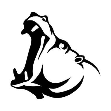 Hippo head Logo
