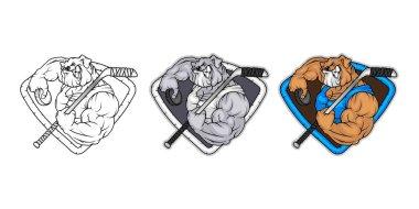 hockey angry bulldog logo