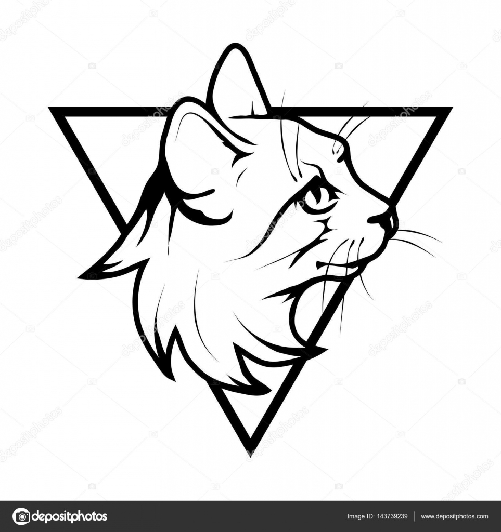 Cat Logo Design Vector Free Download