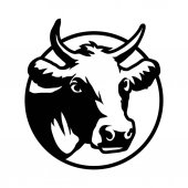 cow logo,  illustration
