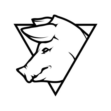 pig logo, illustration