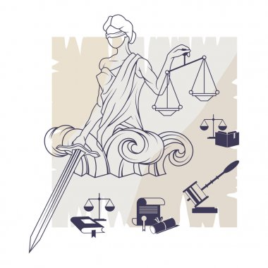 justice logo vector illustration