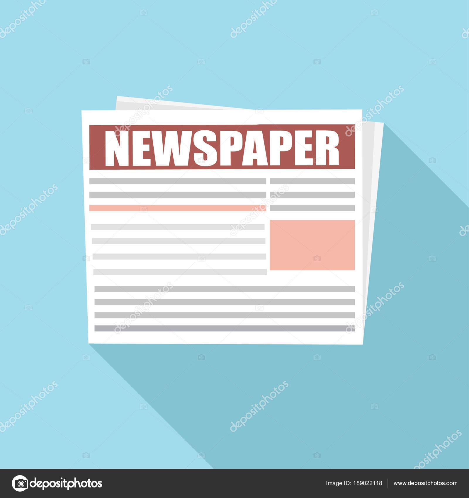 Periódico Financiero Información Financiera Plantilla Vector Diario ...
