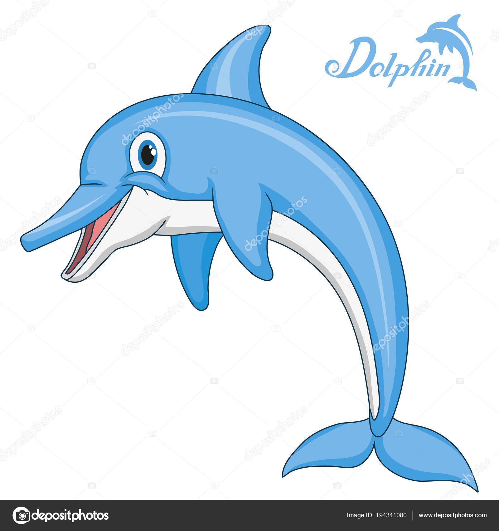 Dauphins Dauphin Dessin Animé Animal Marin Pour Concevoir