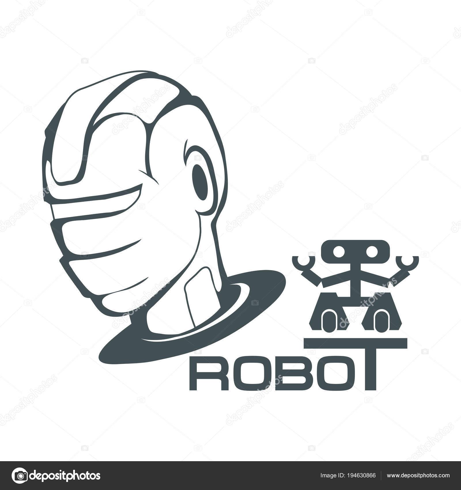 Robotic Face Robot Logo Design Robotics Vector Graphics Design