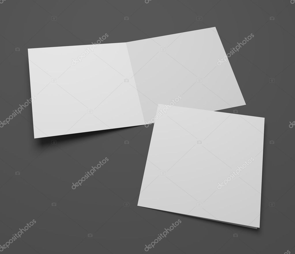 Blank 3d Rendering Square Greeting Cards Stock Photo Mileswork
