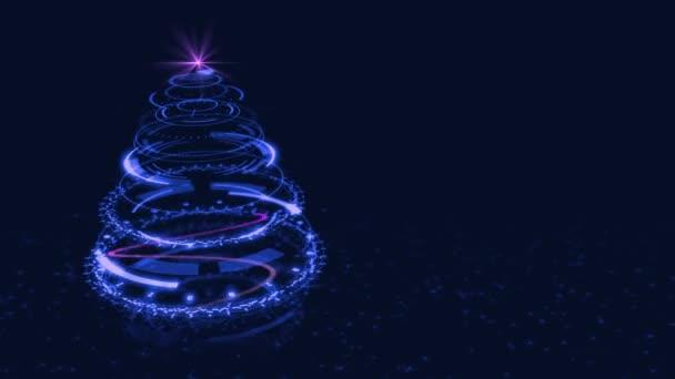 Hi-Tech Blue Tree Vánoční pozadí.