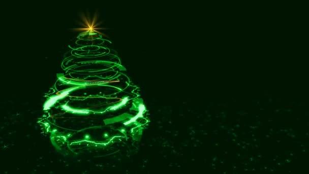Hi-tech Green Christmas Tree Backdrop.