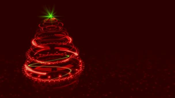 Hi-Tech červenou vánoční stromeček pozadí.