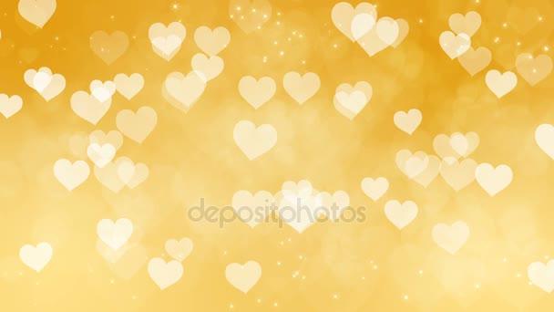 Abstraktní srdce Bokeh zlaté pozadí