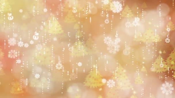 Zlaté vločky a Vánoční pozadí