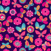 Seamless pattern with butterflies and