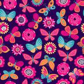 Fotografie Bezproblémové vzor s motýly a