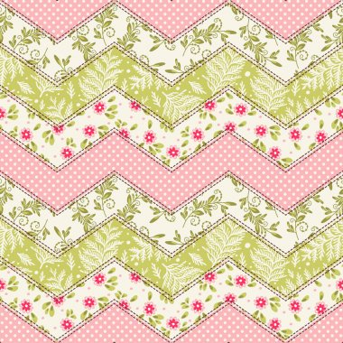 Seamless floral pattern. Patchwork
