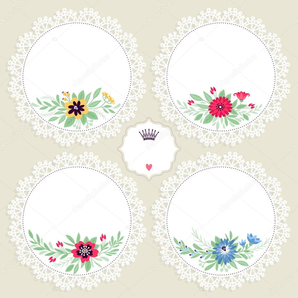 花フレームの背景、ベクトル イラスト — ストックベクター © xenia_ok