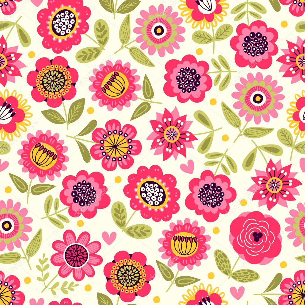 Seamless background pattern of rose