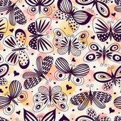 Varrat nélküli mintát pillangók. Szabadkézi