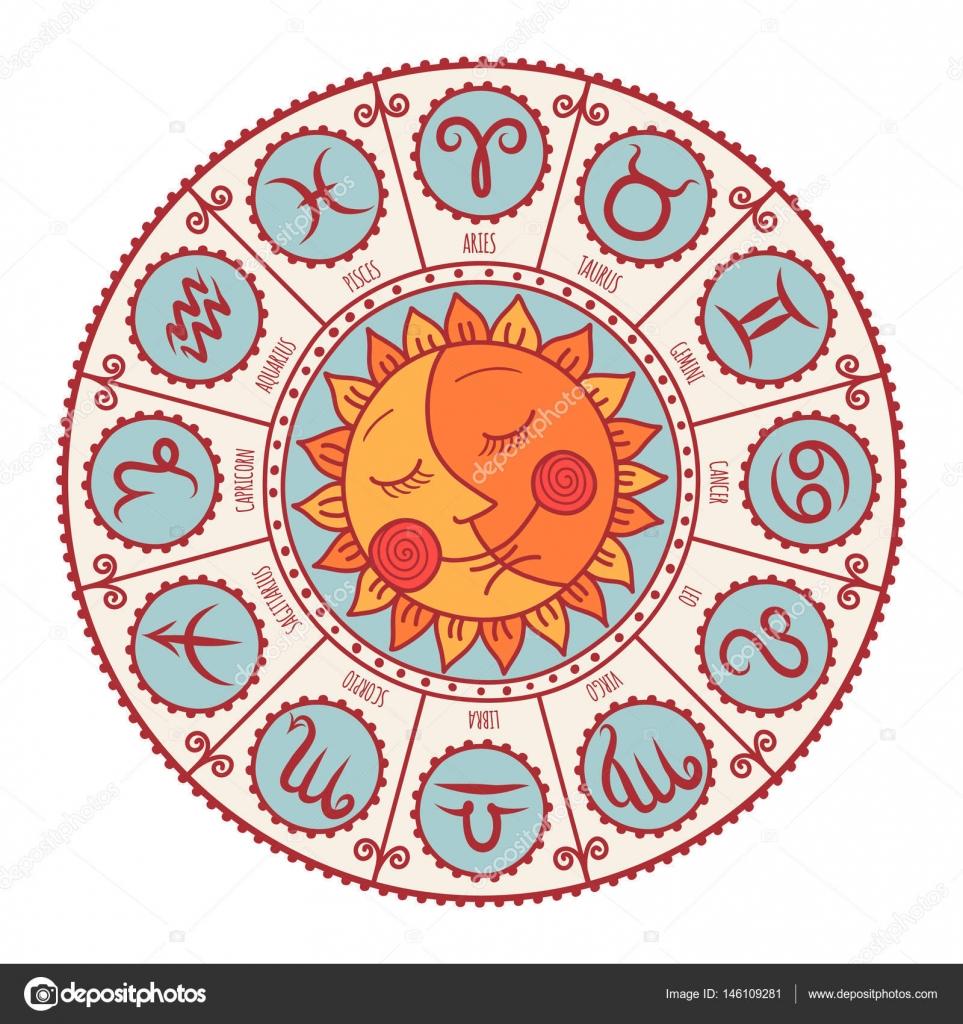 Set Of Symbol Zodiac Sign Stock Vector Xeniaok 146109281
