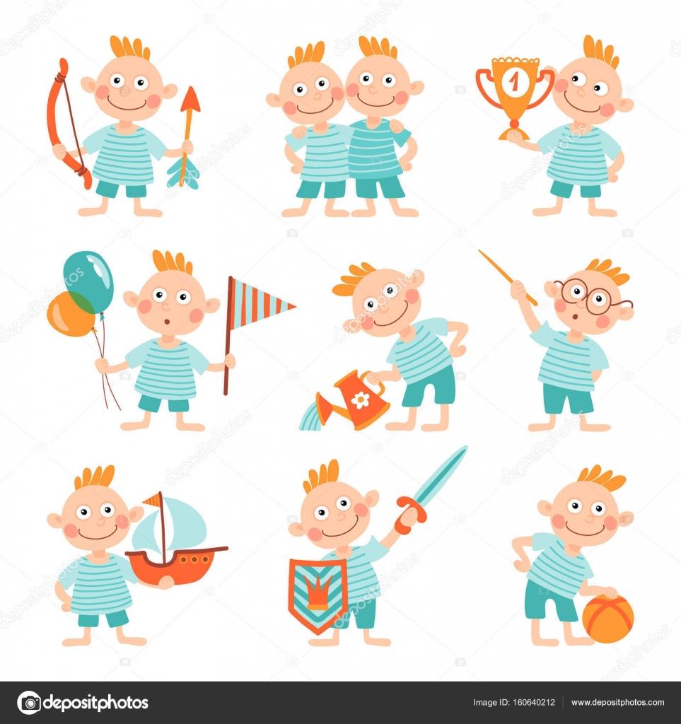 niños con diferentes tipos de actividades — Archivo Imágenes ...