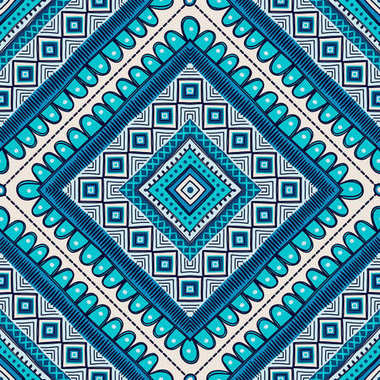 Seamless pattern, patchwork tiles.