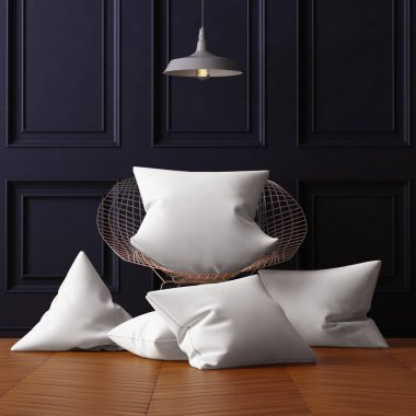 Mockup pillows in the interior