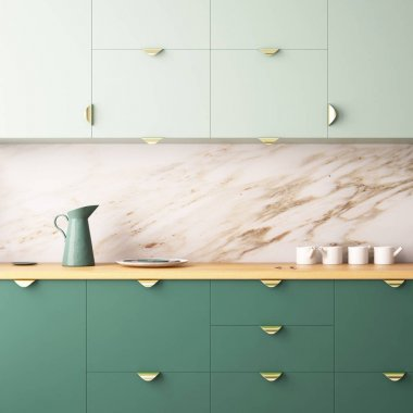 Kitchen area made of marble