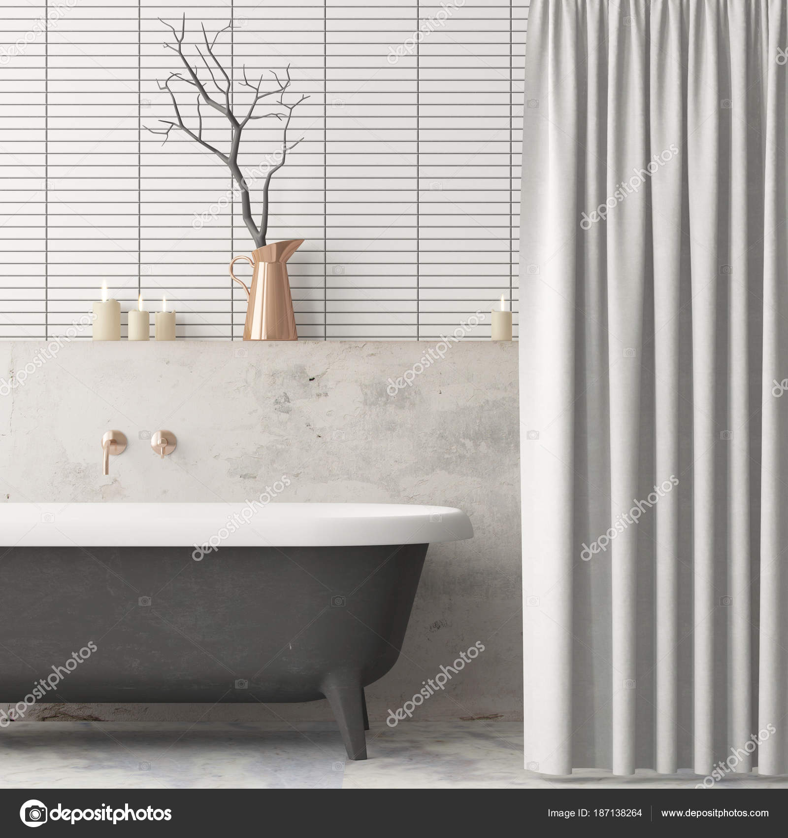 Mock Poster Bathroom Vintage Style Trend Color — Stock Photo ...