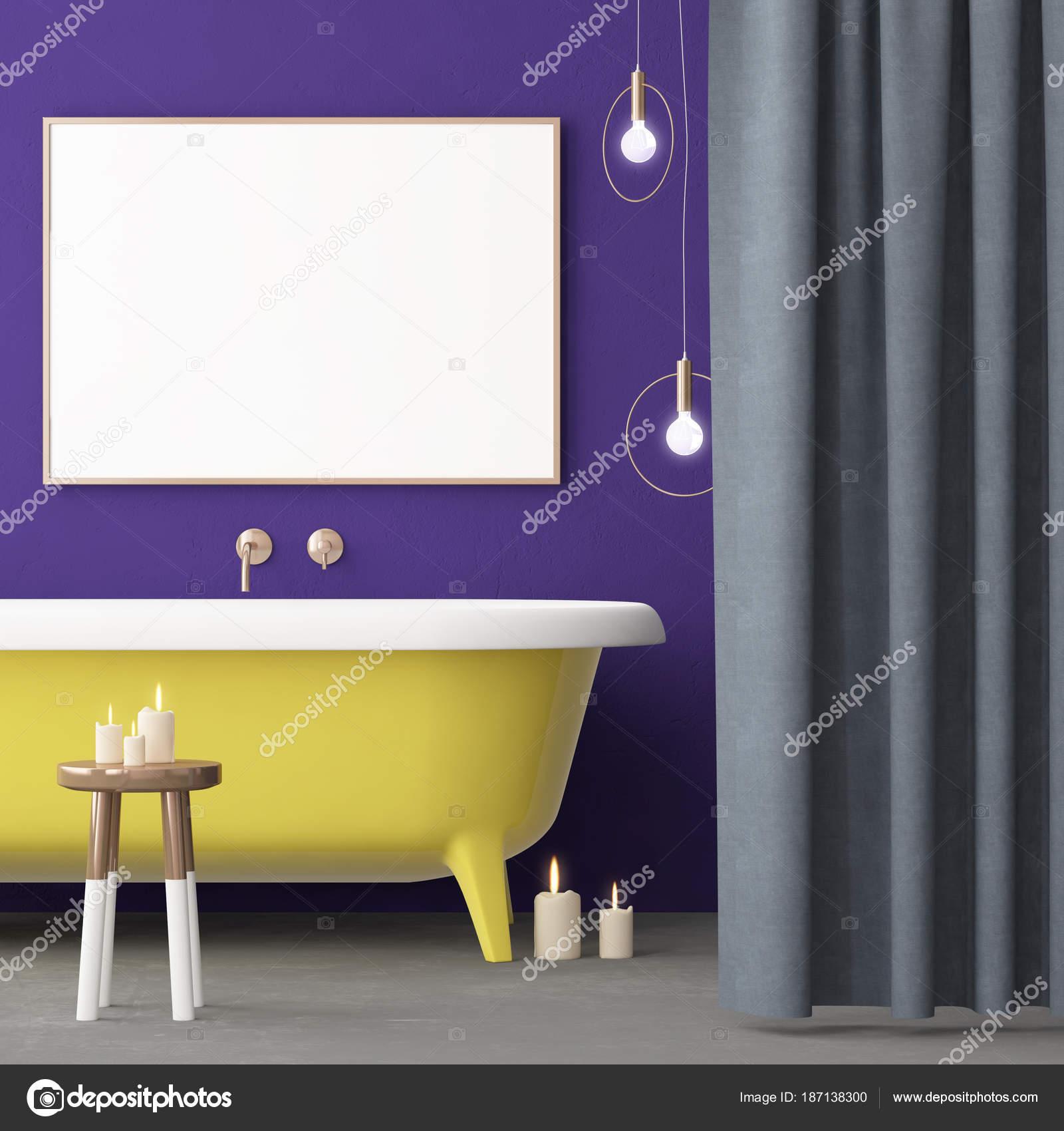 Salle De Bain Bicarbonate Vinaigre ~ Maquette Affiche Dans Salle Bain Dans Style Vintage Couleur Tendance