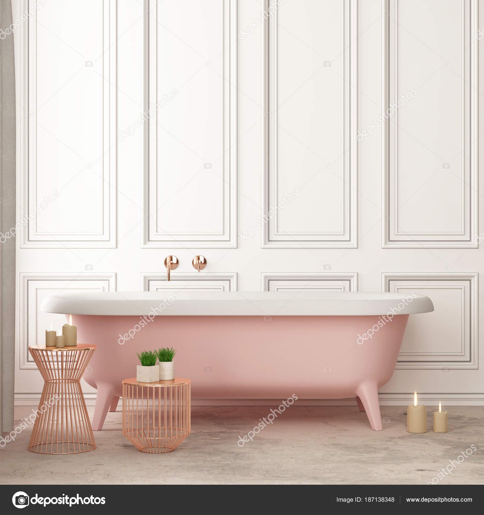Affiche Salle De Bain Vintage ~ maquette affiche dans salle bain dans style vintage couleur tendance