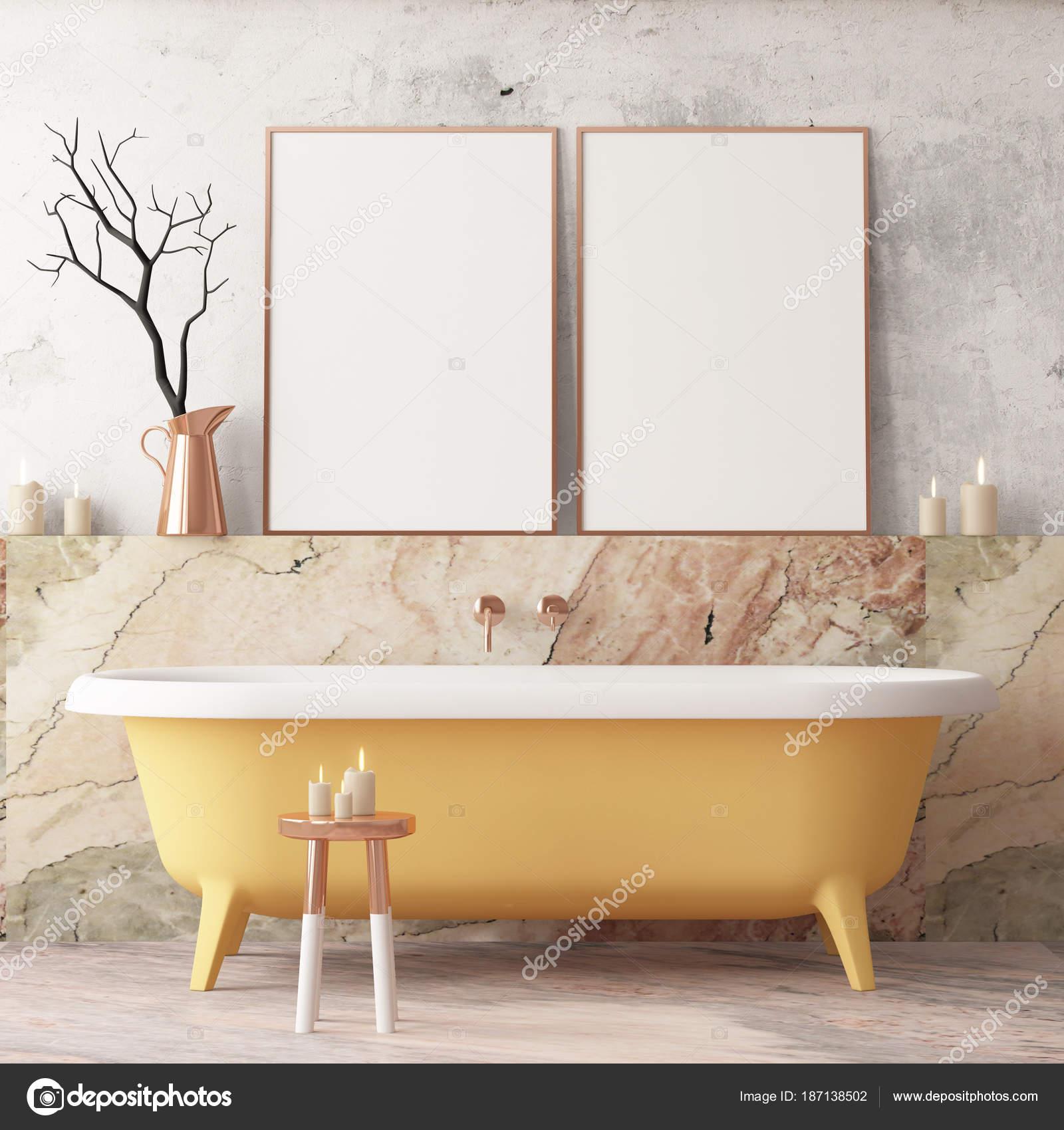 Ikea Salle De Bain Dynan ~ maquette affiche dans salle bain dans style vintage couleur tendance