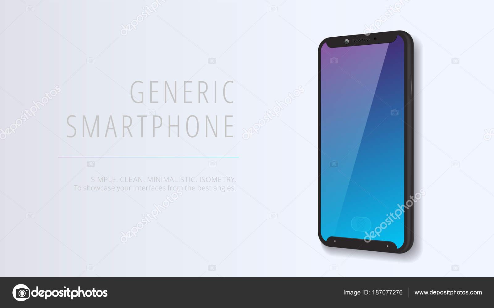 Vektor minimalistisch 3d isometrische Abbildung Handy. Smartphone ...
