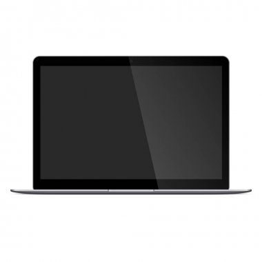 Modern Gray Laptop with blank screen