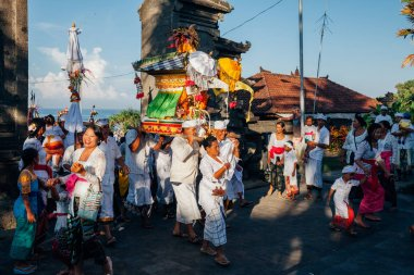 Ceremonial procession, Bali, Indonesia