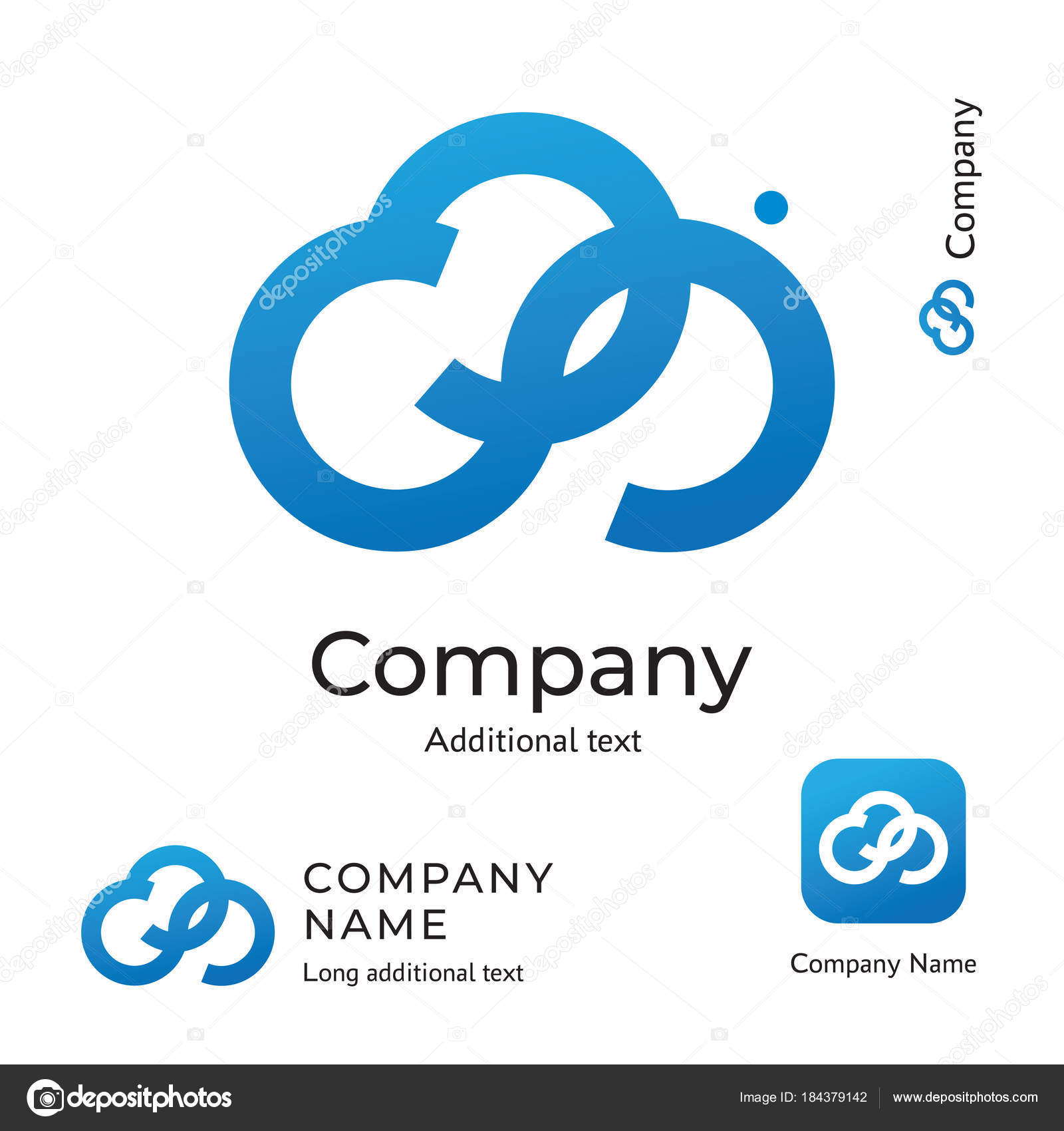 cloud digital logo technological abstract modern design business identity brand and app icon symbol concept set template stock vector c vaniaplatonov 184379142 https depositphotos com 184379142 stock illustration cloud digital logo technological abstract html