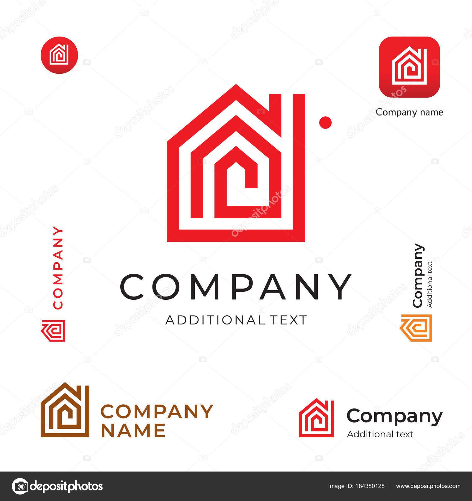 Casa construcción moderno logotipo identidad marca icono de la ...