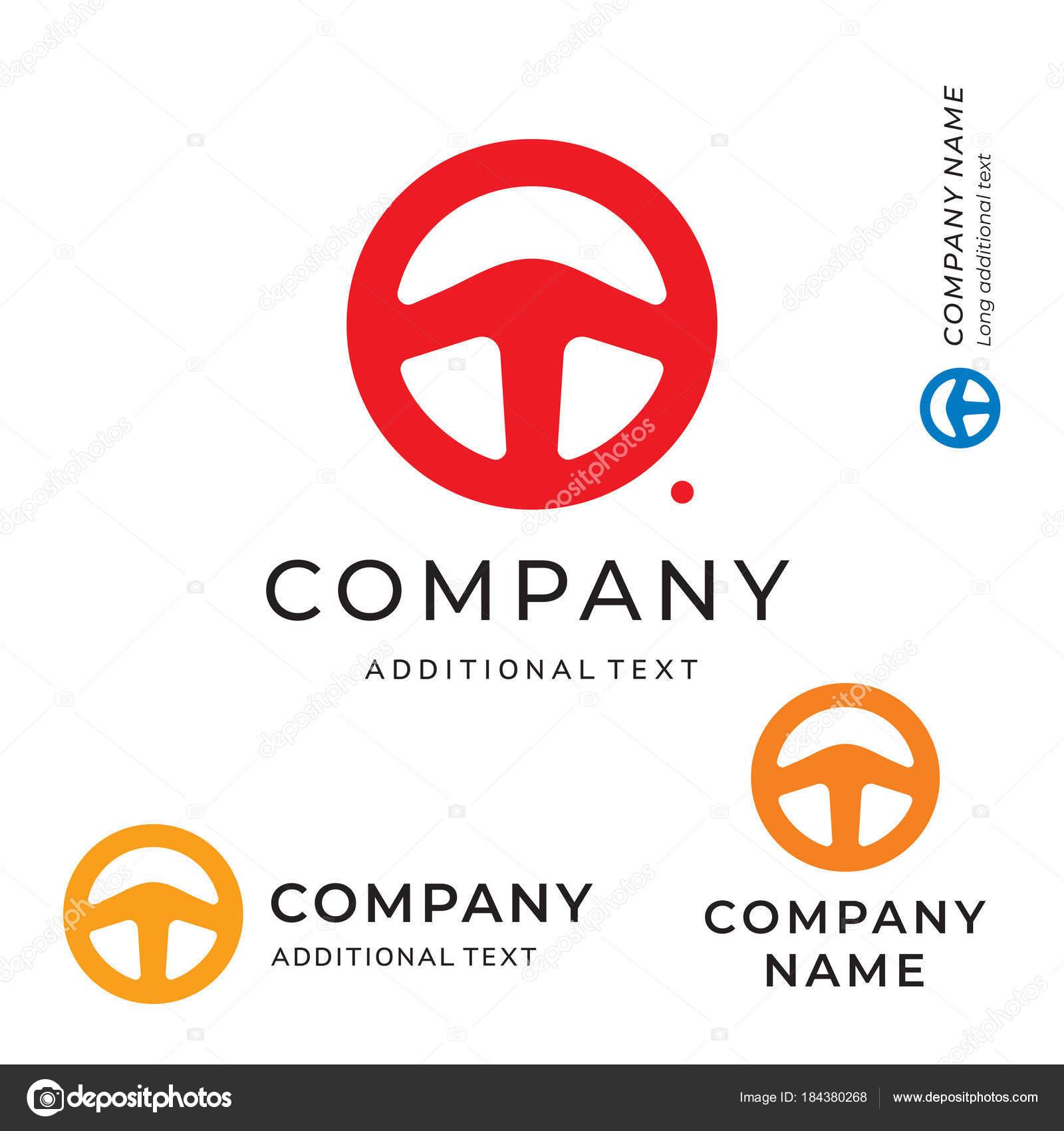 Steering wheel shape logo emblem modern simple and clean race steering wheel shape logo emblem modern simple and clean race identity brand icon symbol concept set buycottarizona
