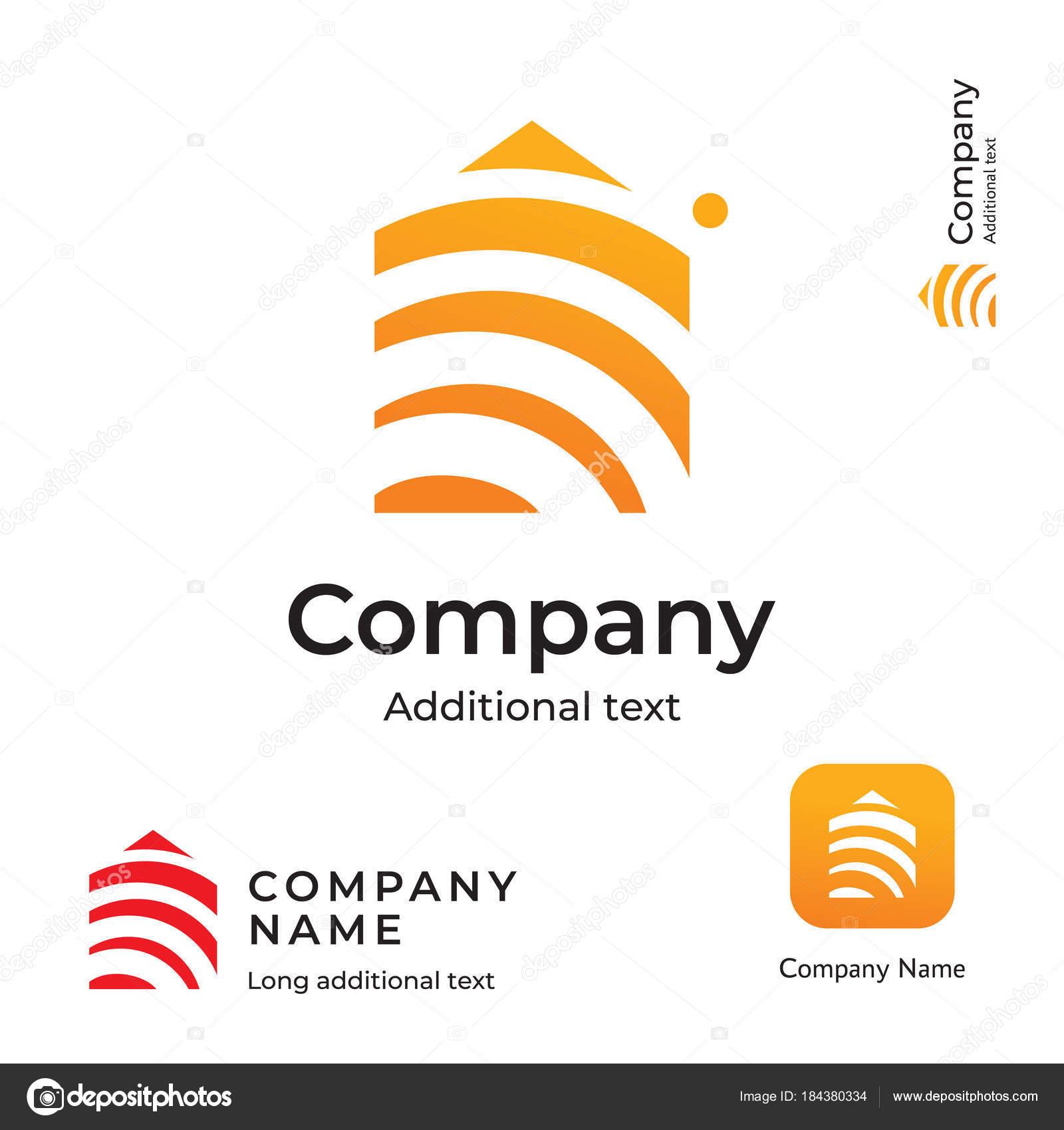 Bau moderner Logo Design Hausbau Unternehmen Identität Marke und App ...