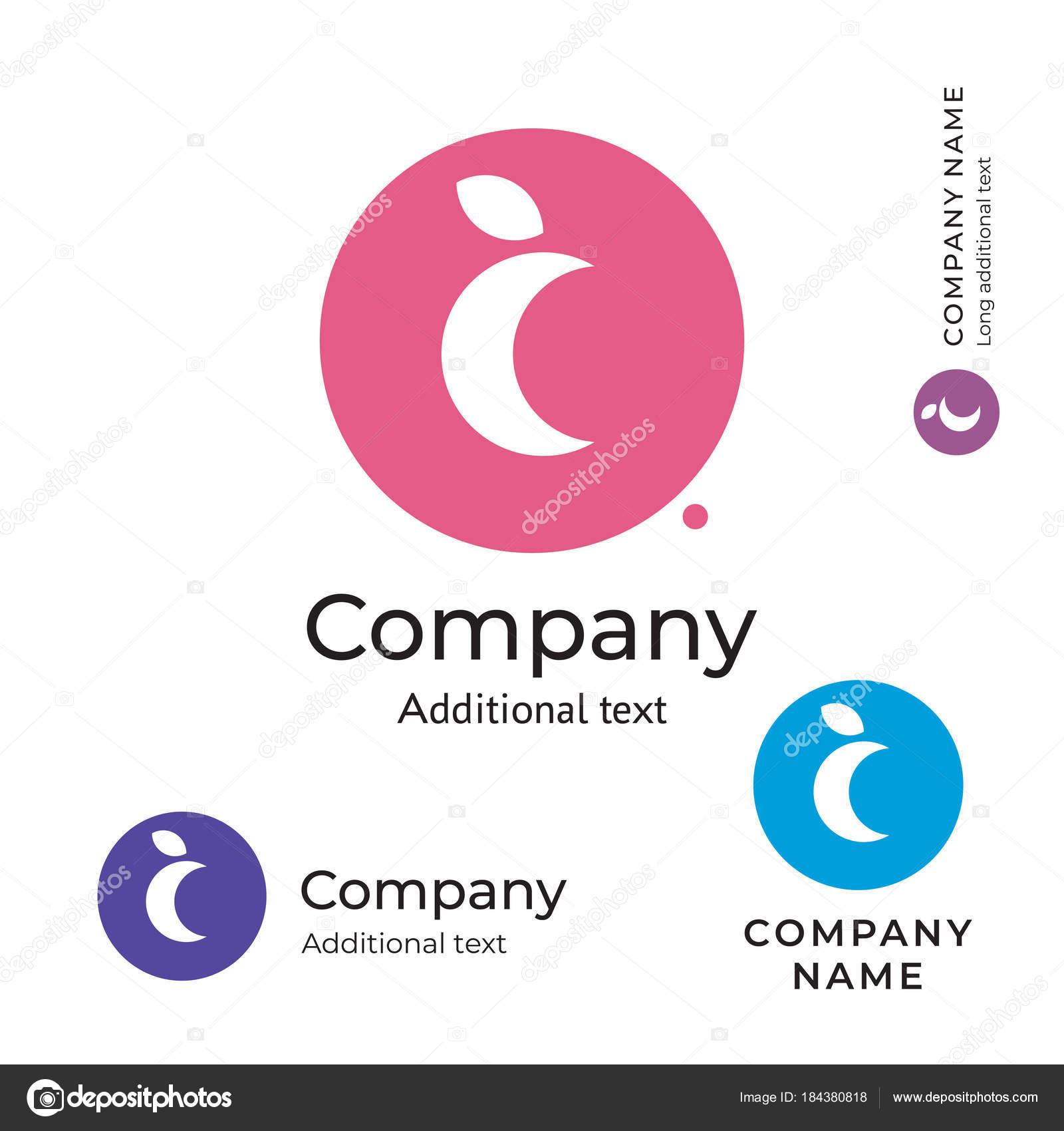 Mond-Logo stilvolle Schönheit Identity Marke Symbol Symbol Konzept ...