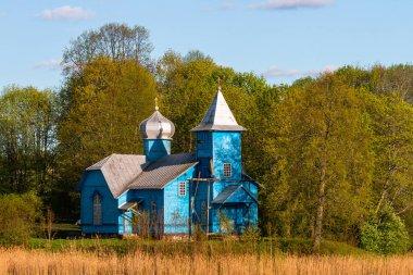 Old church on river coast
