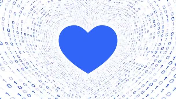 Blaues Herz Hintergrund Endlos Wiederholbar Filmmaterial