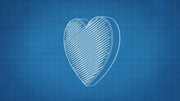Hand drawn heart symbol rotating blueprint paper seamless loop hand drawn heart symbol rotating blueprint paper seamless loop animation stock video malvernweather Choice Image