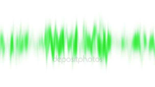 Abstrakt Grün Audiowelle auf weißem Hintergrund. Nahtlose Schleife. 4k, Uhd, Ultra-HD-Auflösung. Weitere Farboptionen in meinem portfolio.