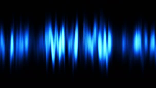 abstract blue audio wave black background seamless loop uhd ultra