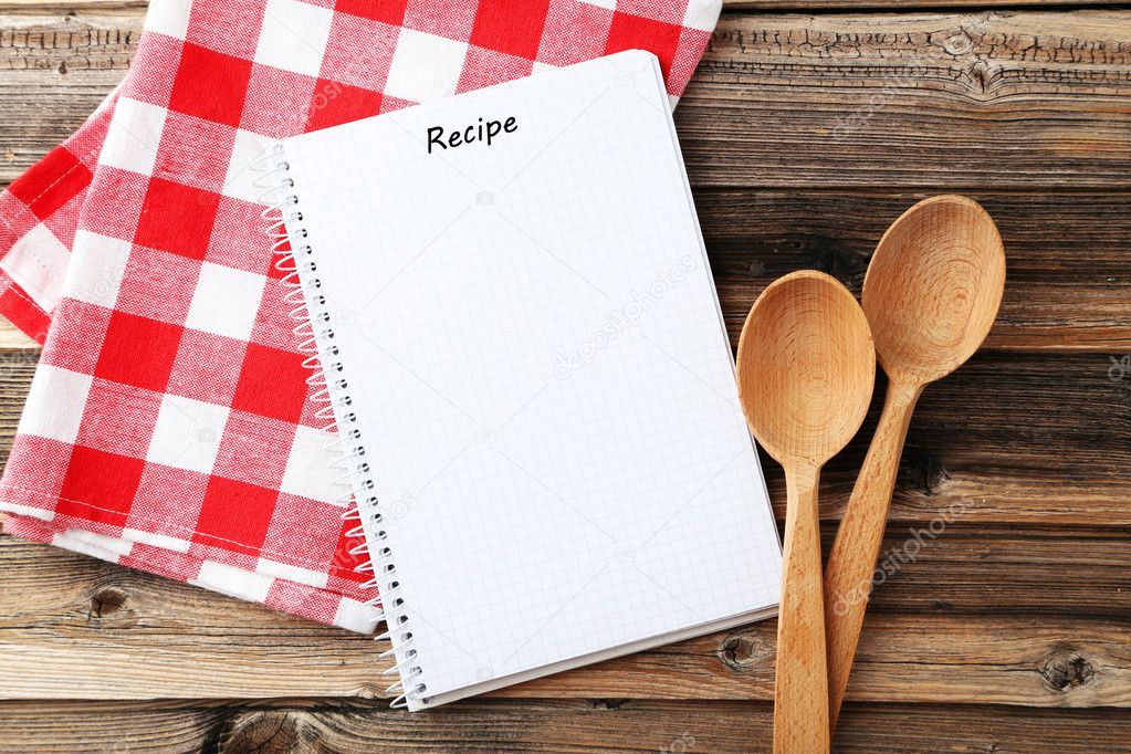 Open Blank Recipe Book Stock Photo 5seconds 126730316