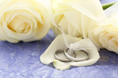 Silver wedding rings