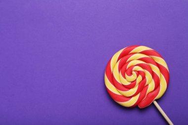 Sweet lollipop on  background
