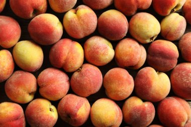 Ripe and sweet peach fruits