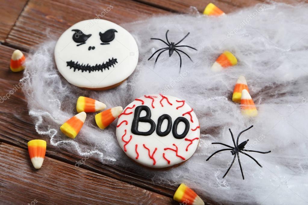 fresh halloween gingerbread cookies stock photo 128903634 - Halloween Gingerbread Cookies