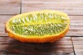 Kiwano fruit on  table
