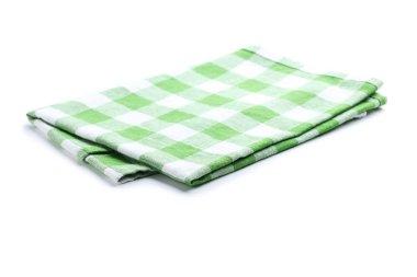 Folded napkin on  background